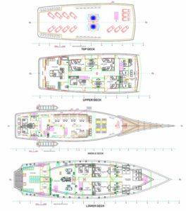 Boat Layout - Neomi Liveaboard Komodo Island - Liveaboard Indonesia